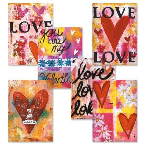Painterly Valentine Cards