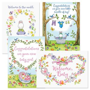 Hunny Bunny Baby Cards and Seals