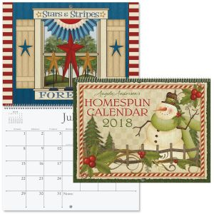 2018 Angela Anderson's Homespun Wall Calendar