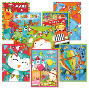 Kid Banner Birthday Card Value Pack