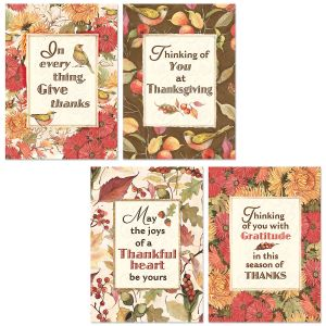 Autumn Botanicals Thanksgiving Cards
