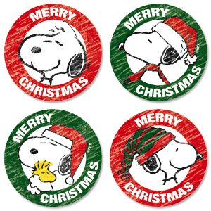 Snoopy™ Christmas Envelope Seals