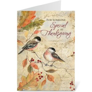 Chickadee Thanksgiving Cards - BOGO