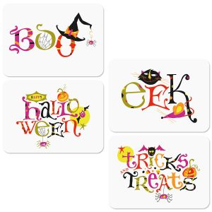 Die-Cut Tricks and Treats Halloween Cards