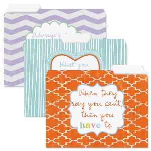 Cheerful Sentiments File Folder Value Pack