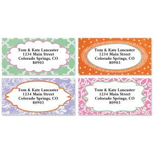 Cheerful Colors Border Address Label