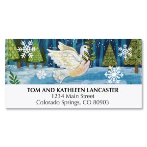 Peace Dove Deluxe Address Labels