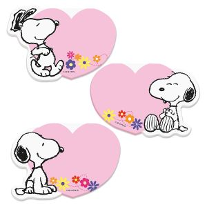 PEANUTS® Heart-Shape Notepads