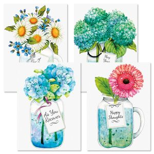 Mason Jar Get Well Cards and Seals