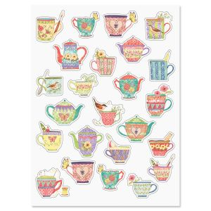Bright Teacup Stickers