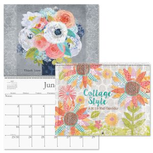 2019 Collage Style Wall Calendar