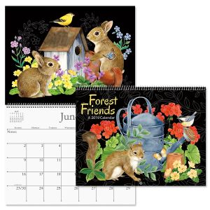 2019 Forest Friends Wall Calendar