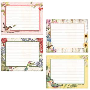 Birds Lined Jotter Pads