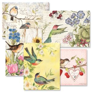 Seasonal Birds Note Cards