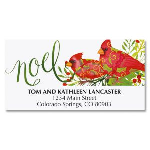 Cardinal Joy Deluxe Address Labels