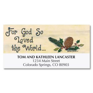 Peaceful Pinery Deluxe Address Labels