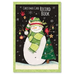 Snowman Christmas Card Record Book