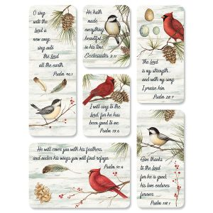 Winter Bird Magnets