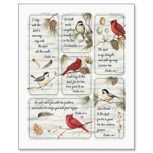 Winter Bird Magnets