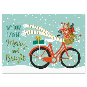 bicycle holiday deluxe foil christmas cards - Holiday Christmas Cards