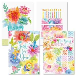 Color Brights Birthday Cards and Seals
