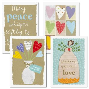 Sending Love Sympathy Cards and Seals