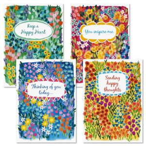 Floral Garden Thinking of You Cards and Seals