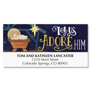 Adore Him Deluxe Address Labels