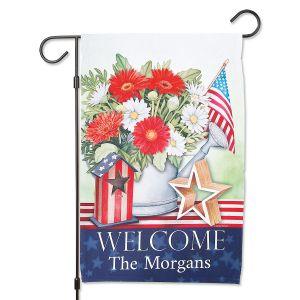 Patriotic Personalized Garden Flag