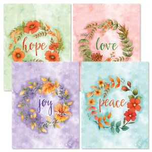 Wreath Note Cards