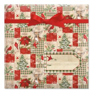 Seasons of the Heart Jumbo Rolled Gift Wrap and Labels