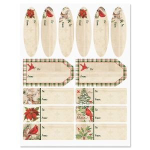 Seasons of the Heart Christmas Labels