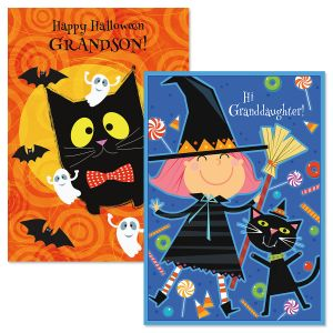 Grandchild Halloween Card