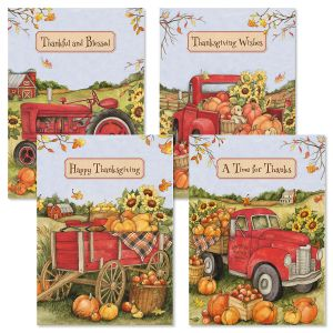 Thanksgiving Trucking Cards