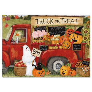 Truck Treat Halloween Cards
