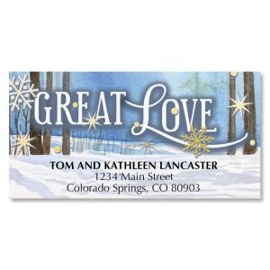 Christmas Morning Deluxe Address Labels