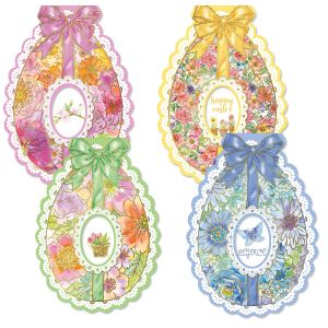 Deluxe Diecut Egg Easter Cards & Stickers