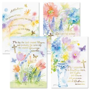 Deluxe Foil Rainbow Faith Easter Cards