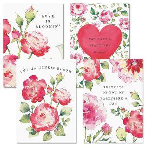 Sending Roses Valentine Cards