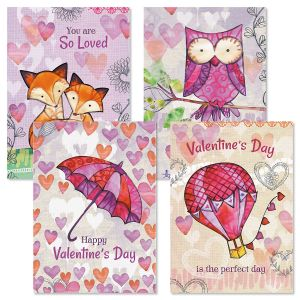 Color My Heart Valentine Cards
