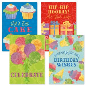 Birthday Celebration Birthday Cards and Seals
