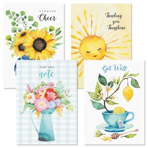 Sunny Days Get Well Cards and Seals