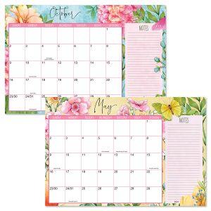 2021-2022 Watercolor Garden Calendar Pad