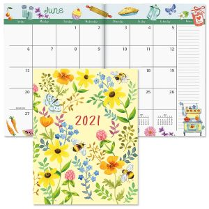 2021 Whimsey Borders Desk Calendar
