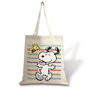 Peanuts Personalized Canvas Tote