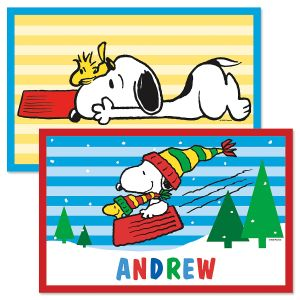 PEANUTS® Christmas Personalized Placemat