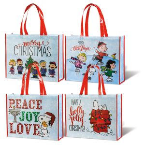 PEANUTS® Christmas Shopping Totes