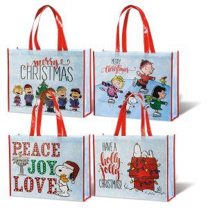 PEANUTS® Christmas Shopping Totes