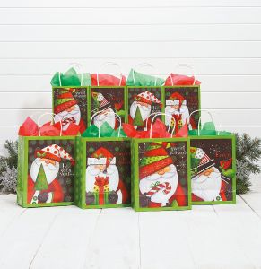Graphic Santa Gift Bag Value Pack