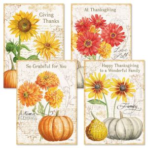 Fall Florals Thanksgiving Cards